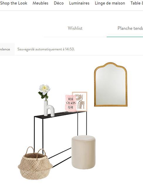 outil de conception westwingnow avec meubles et décorations pour coiffeuse