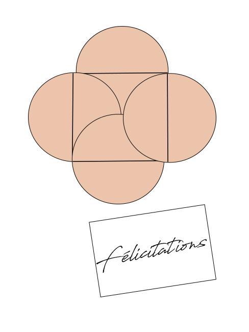 Diy création d'une enveloppe avec des cercles pour offrir de l'argent pour un mariage