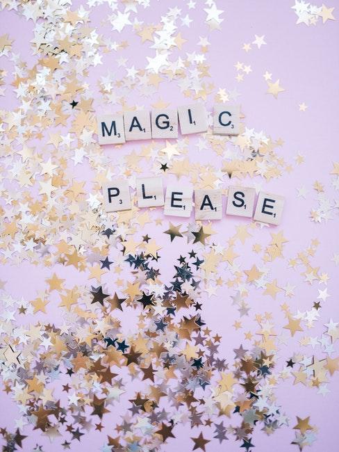 magic please, paillettes