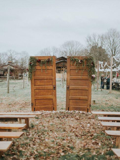mariage outdoor, mariage automne / hiver, décoration insolite mariage