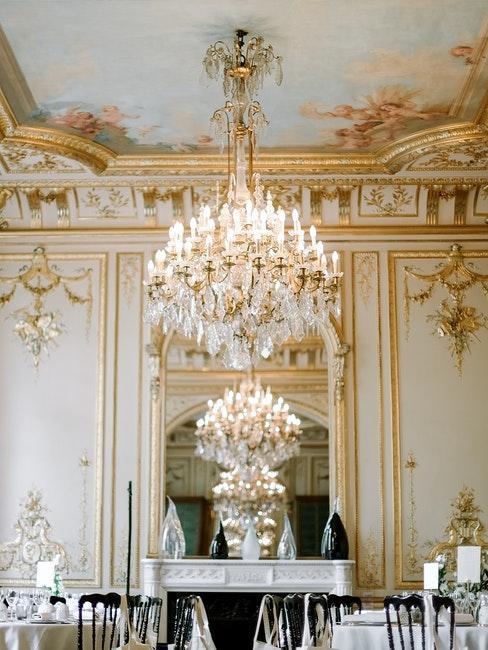 salle de mariage classique et vintage