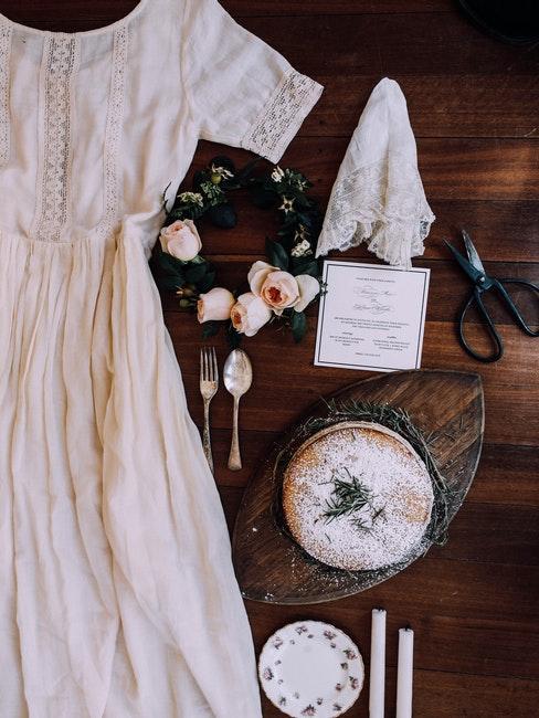 robe de mariée et accessoires de mariage vintage