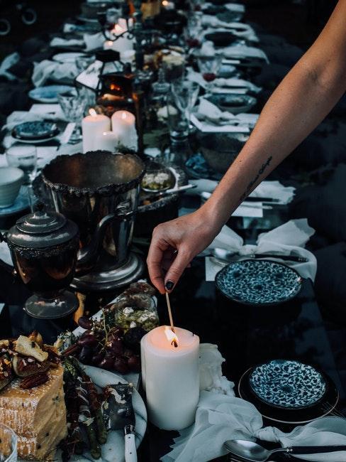 table de mariage boho chic