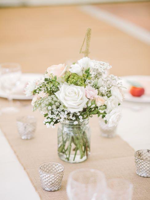 table de mariage, bouquet de mariage, décoration de table mariage