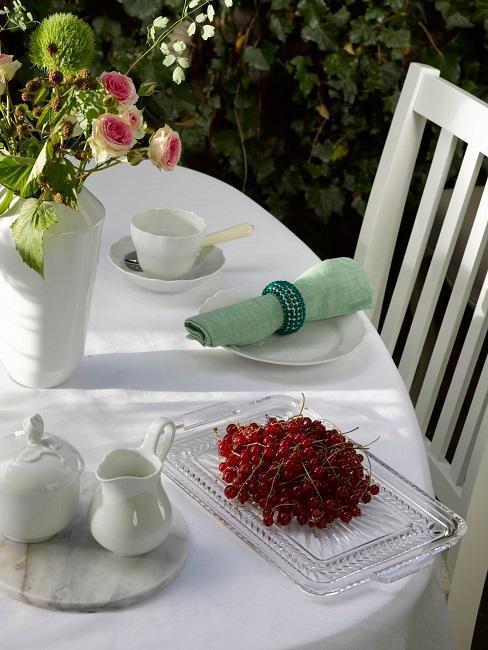 décoration de table style romantique