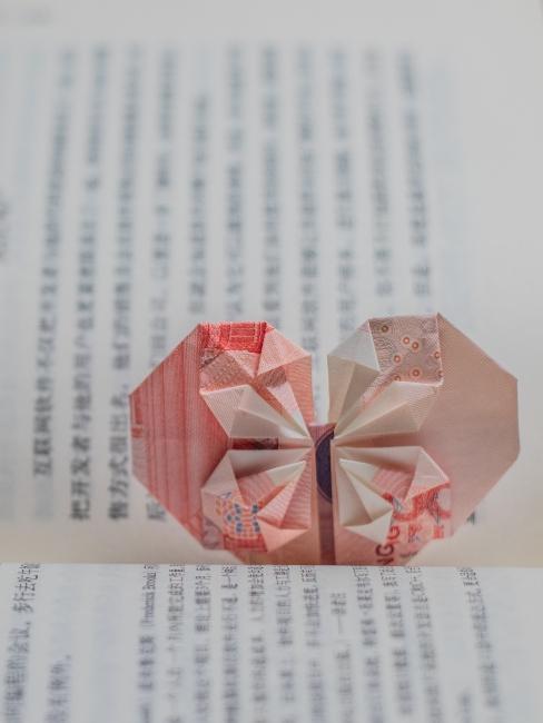 origami marque-page
