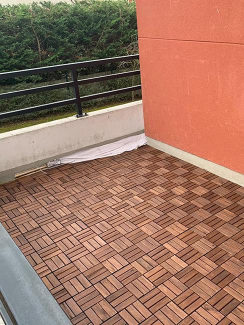 avant aménagement balcon chez veronica sither