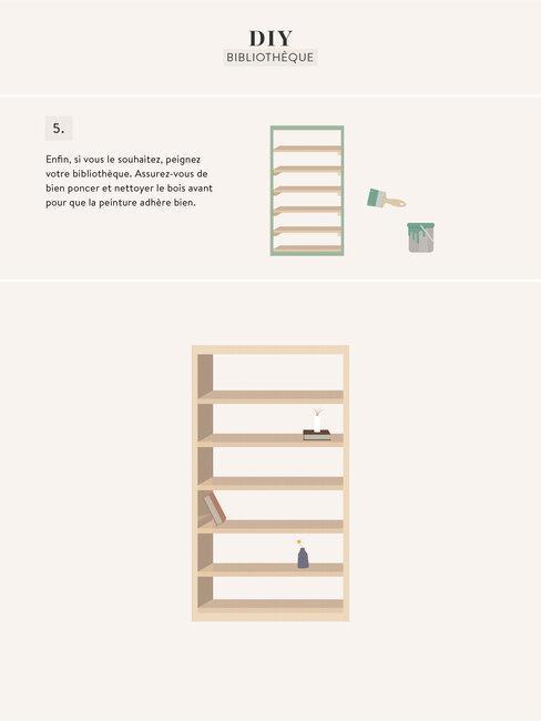 DIY bibliothèque 003
