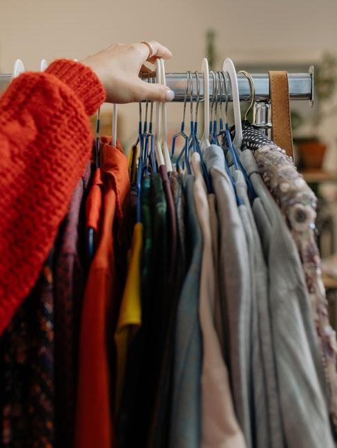 shopping vêtements de seconde main