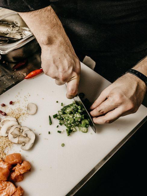 planche à découper, repas, préparation, cuisine