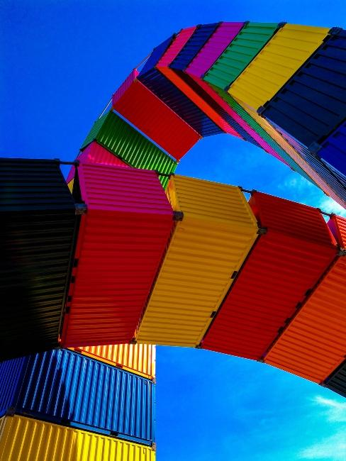 Containers multicolores