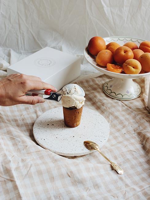 dessert glace vanille