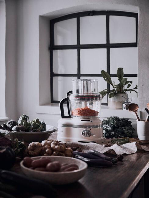 cuisine rustique avec kitchenaid