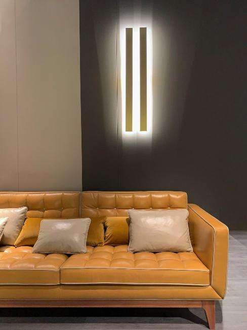 canapé en cuir design italien