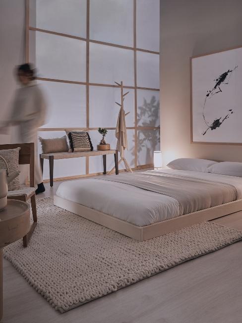 chambre à coucher de style japonais minimaliste