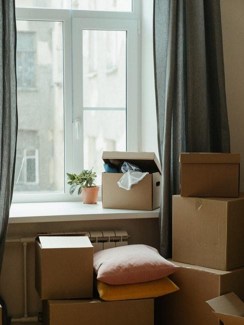 cartons, déménagement