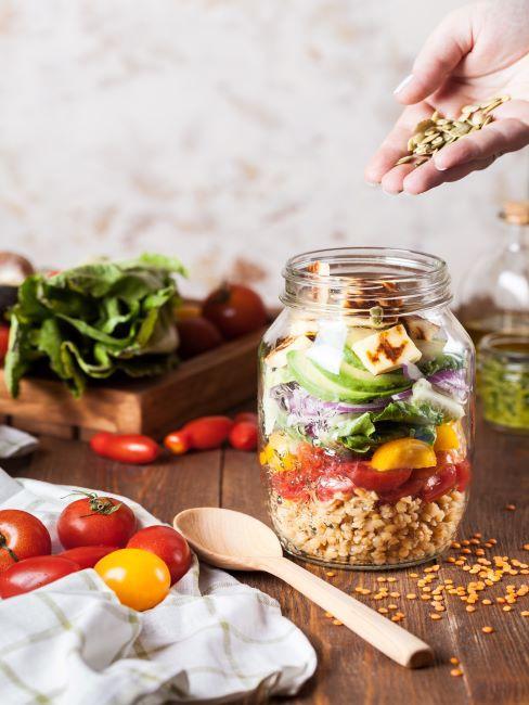 bocal de légumes batch cooking