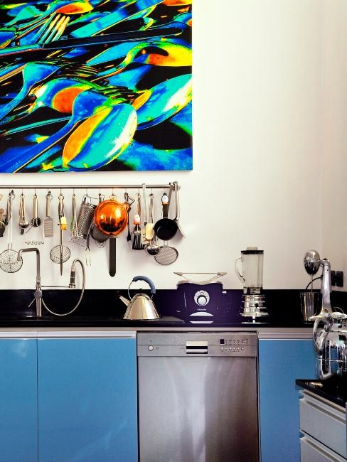 cuisine bleue moderne