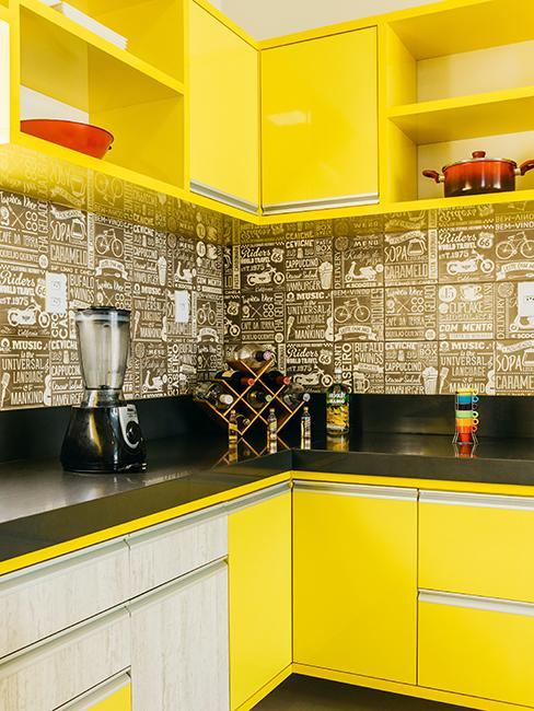 cuisine jaune moderne