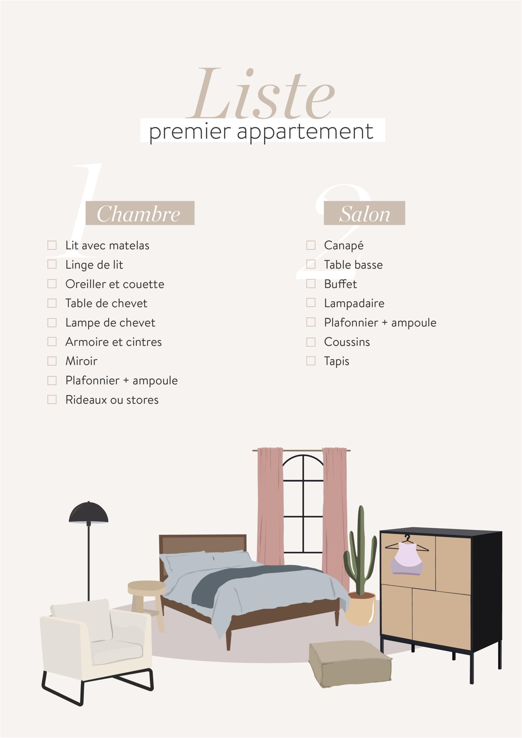 liste premier appartement