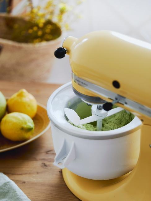 appareil électroménager pour cuisine jaune