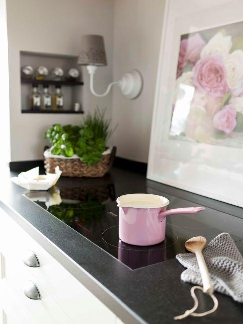 cuisine rose, cuisine moderne