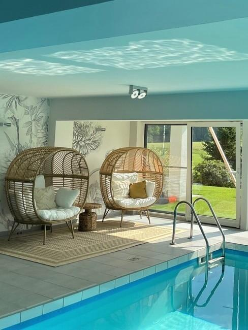 piscine intérieure projet aménagement Westwing