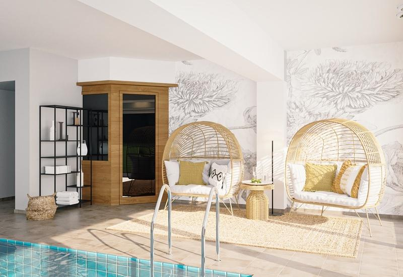 projet 3D piscine intérieure Westwing