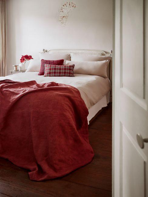 chambre à coucher, parure de lit, couverture
