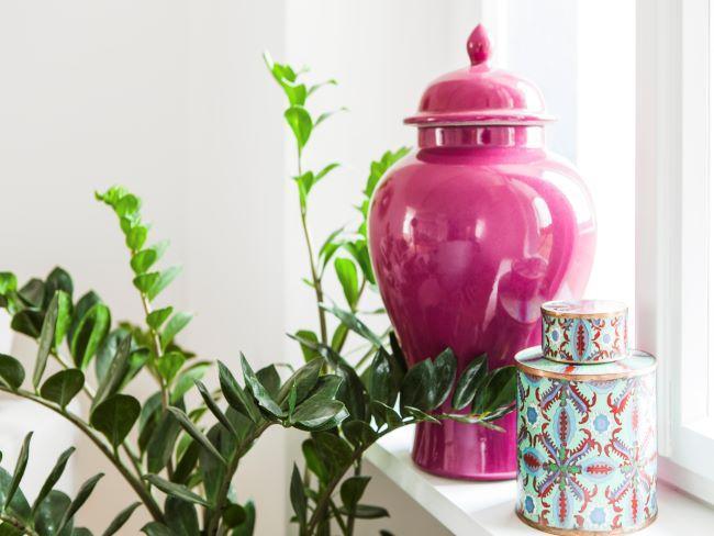 objet déco, vase déco, urne déco rose