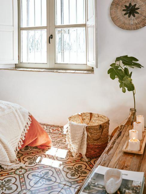 chambre à coucher, terracotta, style nature, ethnique, rustique, campagne