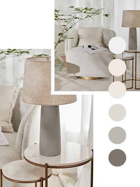 palette de couleur taupe blanc