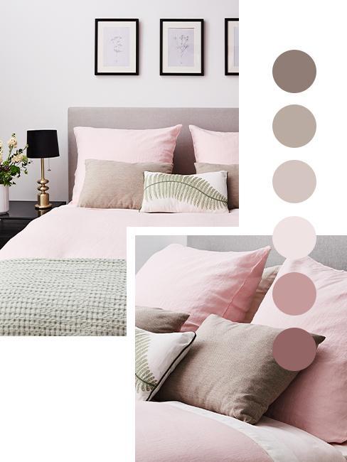 palette de couleur taupe rose