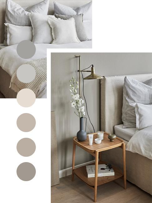 palette de couleur taupe gris