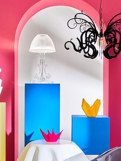 déco colorée avec mur fichsia