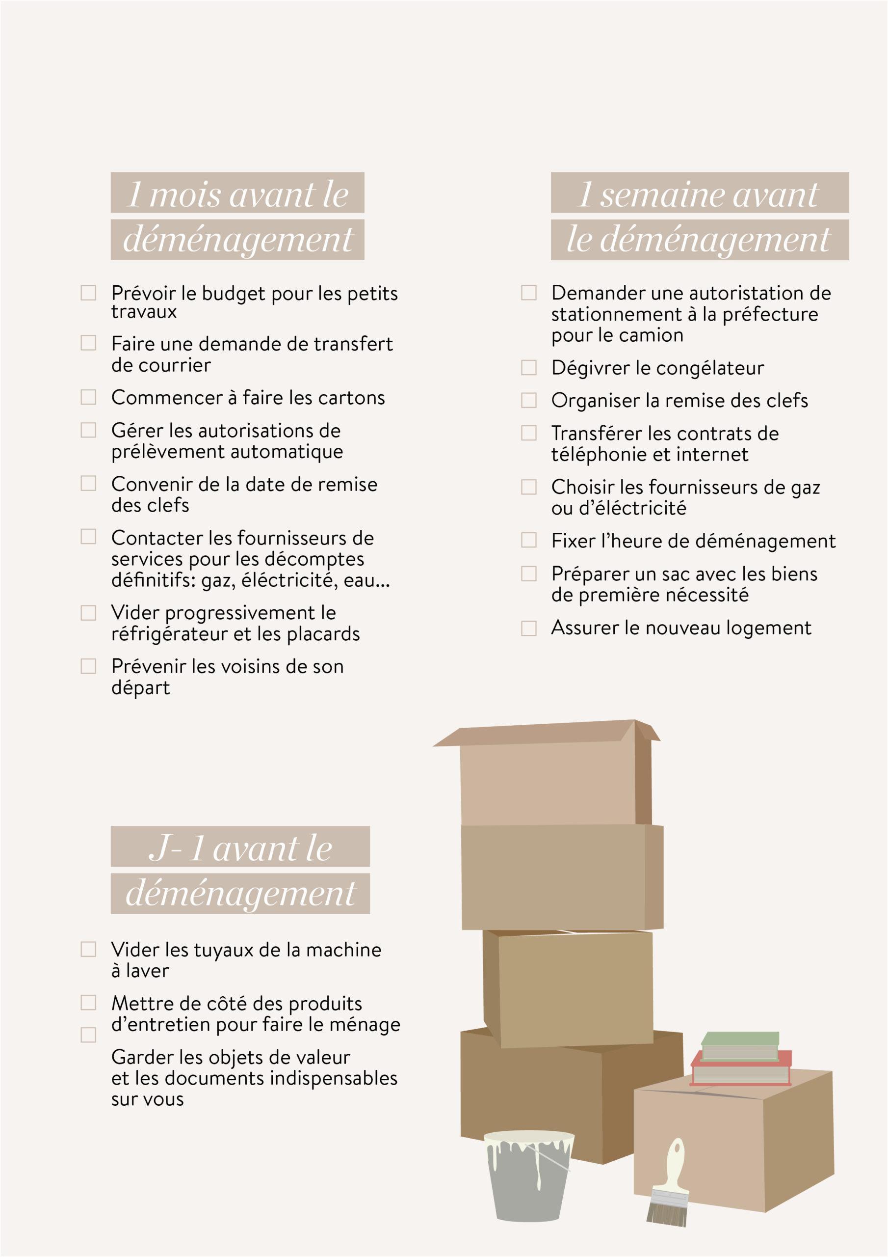 checklist déménagement à télécharger