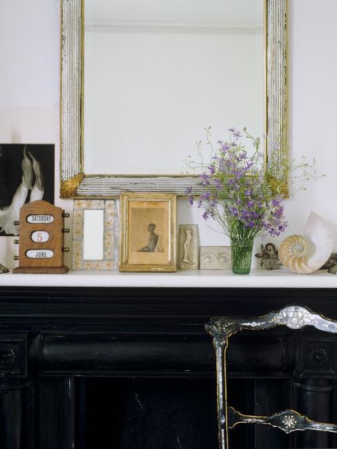 Décoration vintage, cadres photos finition antiquaire