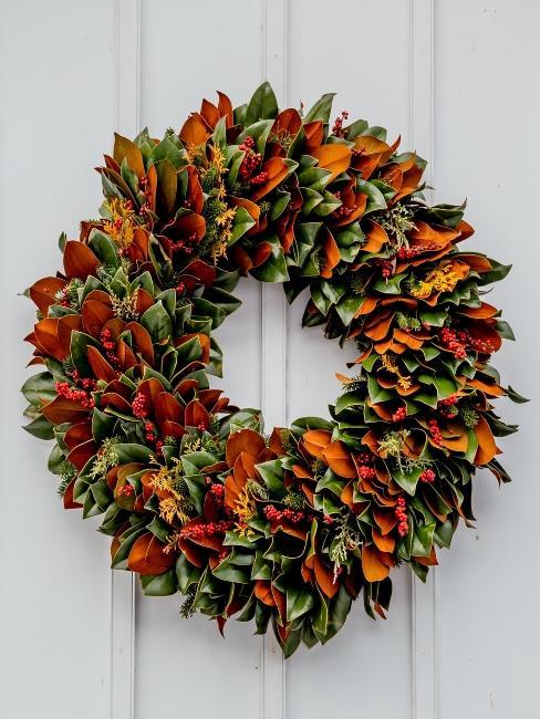 décoration d'automne pour entrée
