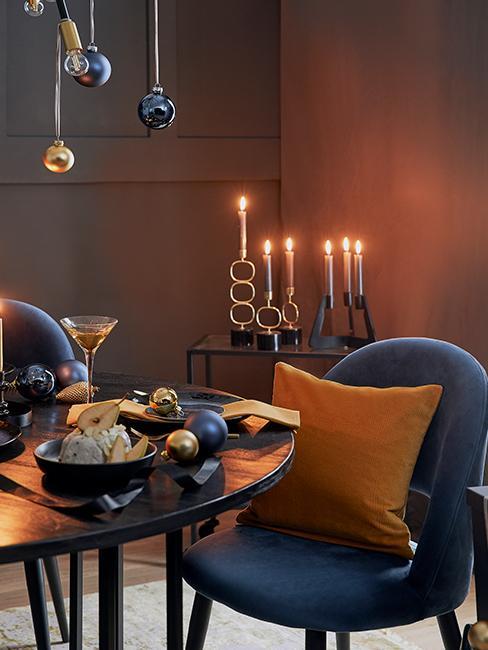 table noel ocre bleu