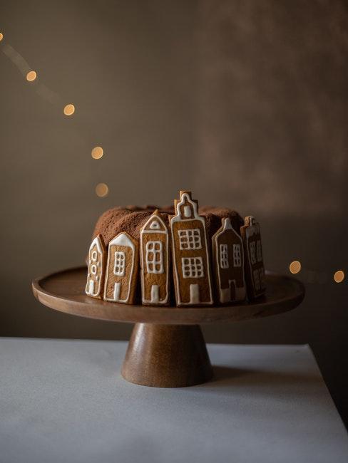Gâteau de Noël; repas en famille