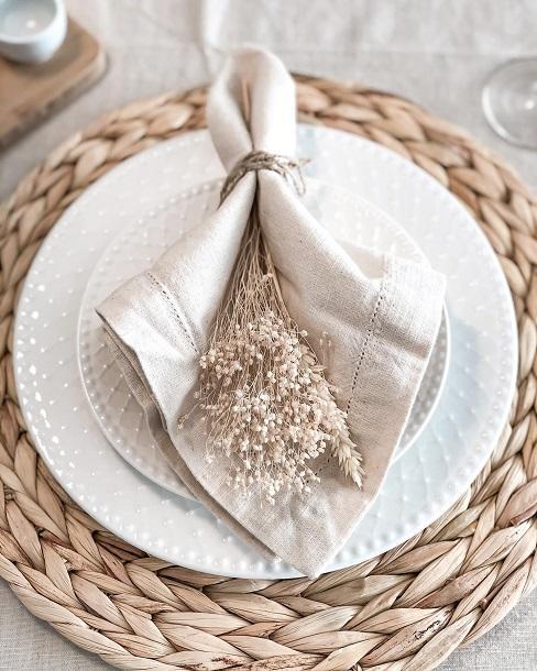 pliage serviette de table d'automne @galician_home
