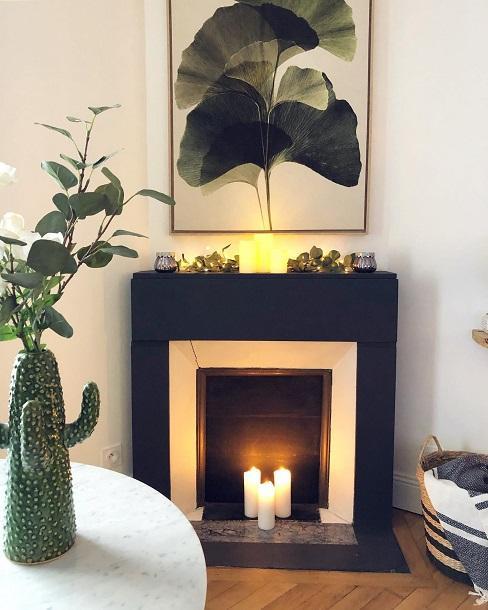 manteau de cheminée noir @alison_gds