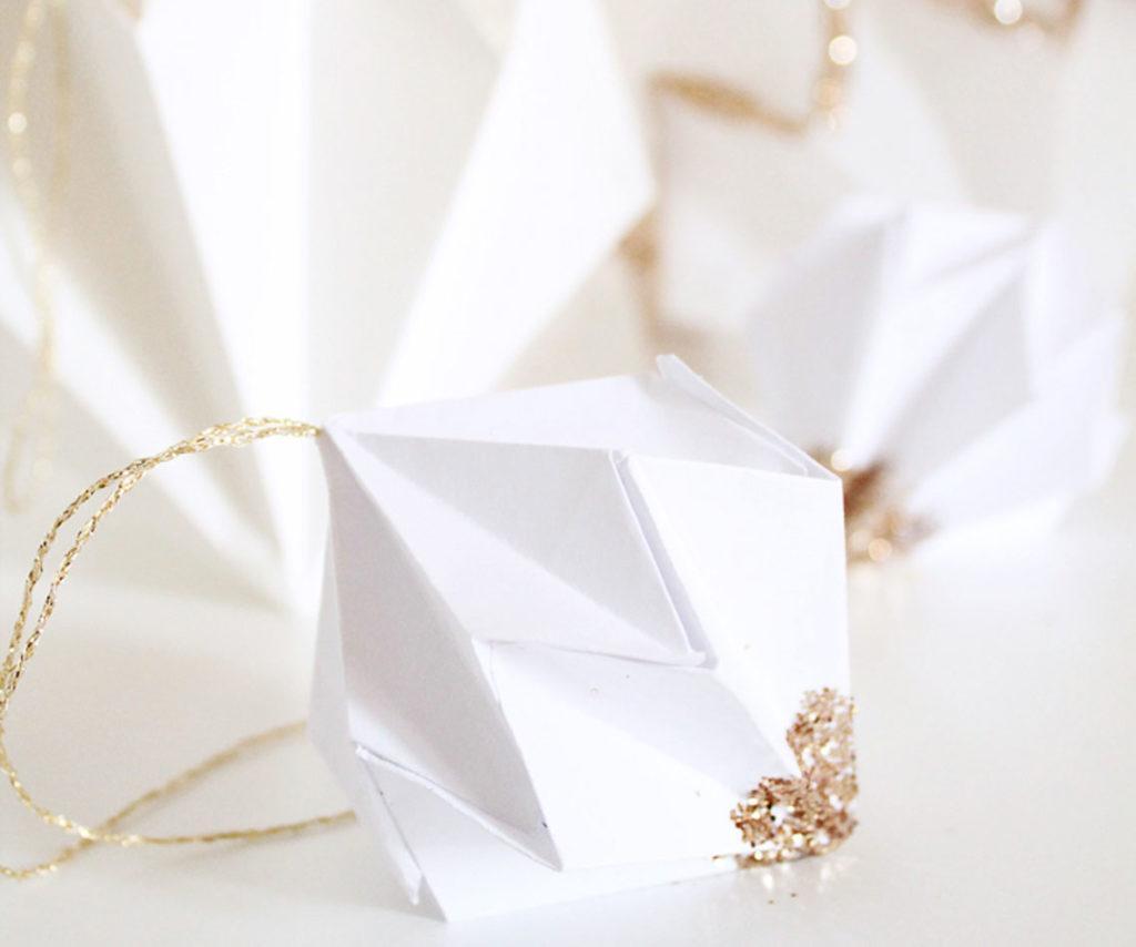origami de noel - heloise - diamant
