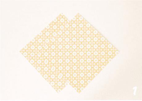 origami de noel step 1 DIY