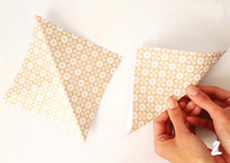 origami de noel step 2 DIY