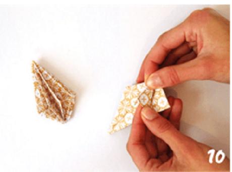 origami de noel step 10 DIY