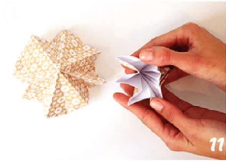 origami de noel step 11 DIY