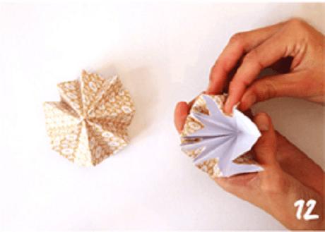 origami de noel step 12 DIY