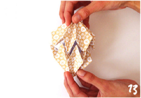 origami de noel step 13 DIY