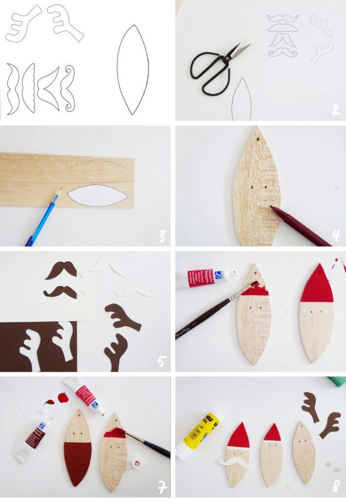 DIY Step by step pour réaliser les decorations de noel en balsa